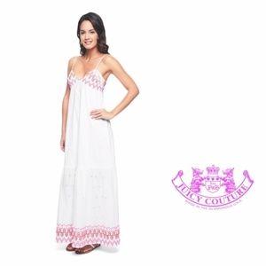 Juicy Couture White Eyelet Maxi Dress Size 14